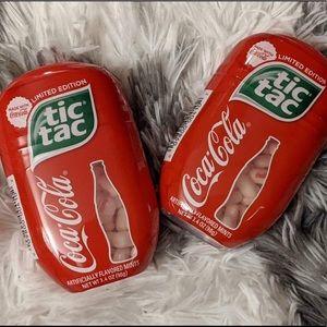 2 Limited Edition Coca Cola Tic Tac Jumbo 200 ct